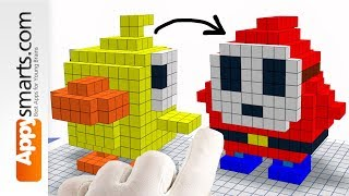 How to Turn Blocky Chicken into Shy Guy  (from Mario Games) - 3D Pixel Art Style Tutorial