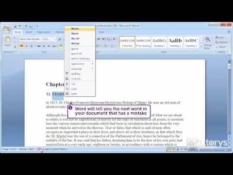 How To Use The Spell Checker With Word 2007?
