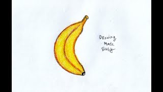 How to Draw a Banana with Bangle in 2 Minutes || Banana Drawing Tricks
