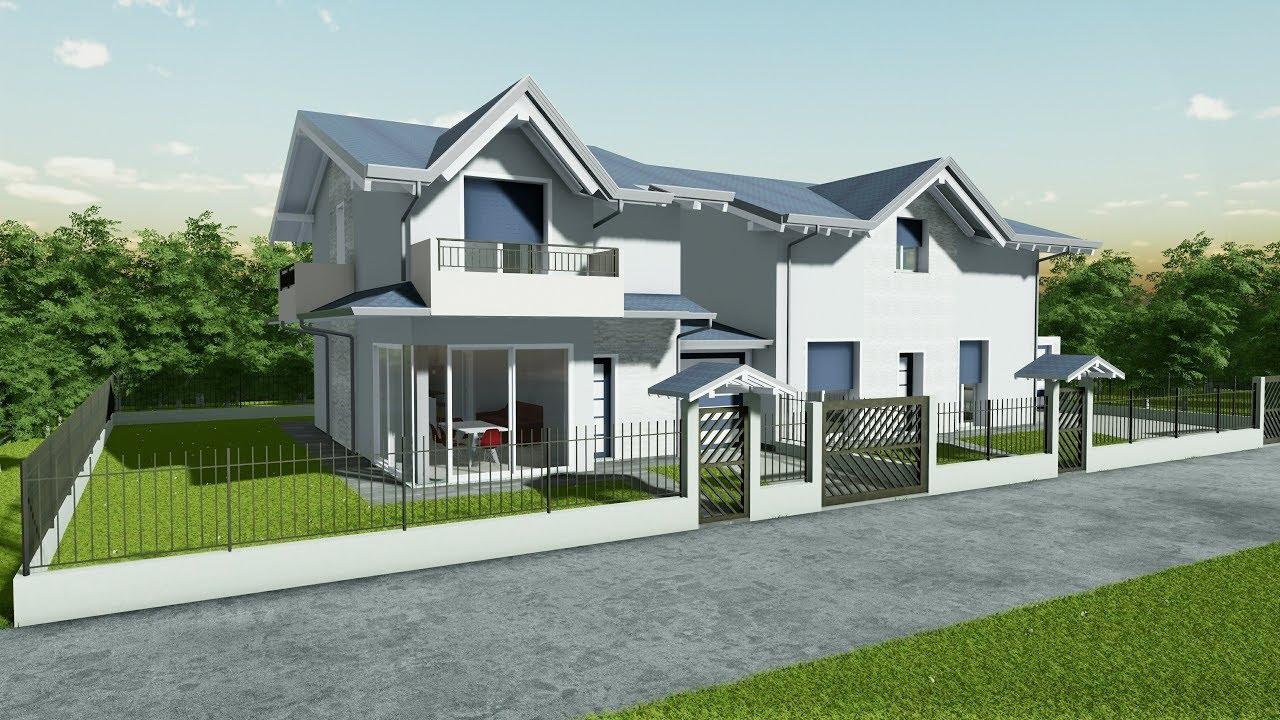 Le regole per progettare una casa a due piani Villetta Singola Due Piani Vetrata Angolare Youtube