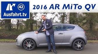2016 Alfa Romeo MiTo QV - Fahrbericht der Probefahrt, Test, Review Ausfahrt.tv