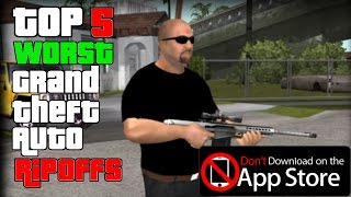 Top 5 Worst Mobile Games That Ripoff GTA | Deep Into The App Store