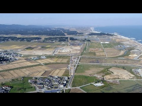 Bird's eye view from PPG - New Joban Line under construction 20141008