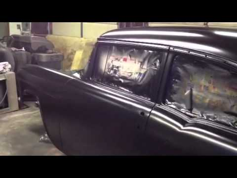 55 chevy belair rustoleum satin black video2 youtube. Black Bedroom Furniture Sets. Home Design Ideas