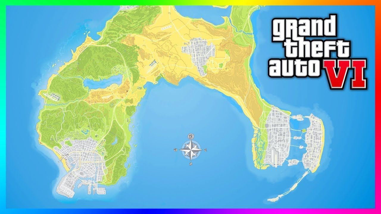 Gta 6 Map Of America.Everything We Know About Grand Theft Auto Vi Addicted To Play