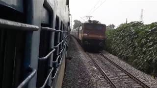 [ INDIAN RAILWAYS ] Mighty 12471 Swaraj Express overtaking my pnp-ldh bound emu.