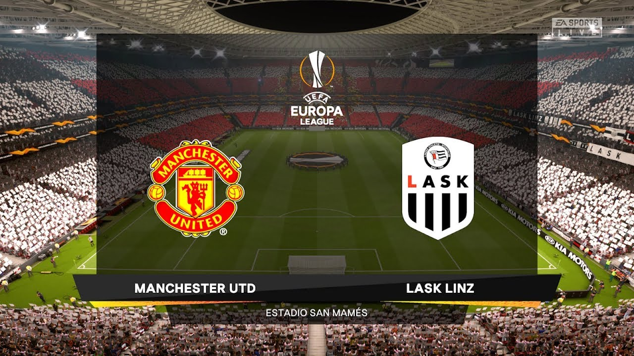 LASK vs Manchester United - Europa League 2020 Gameplay - YouTube