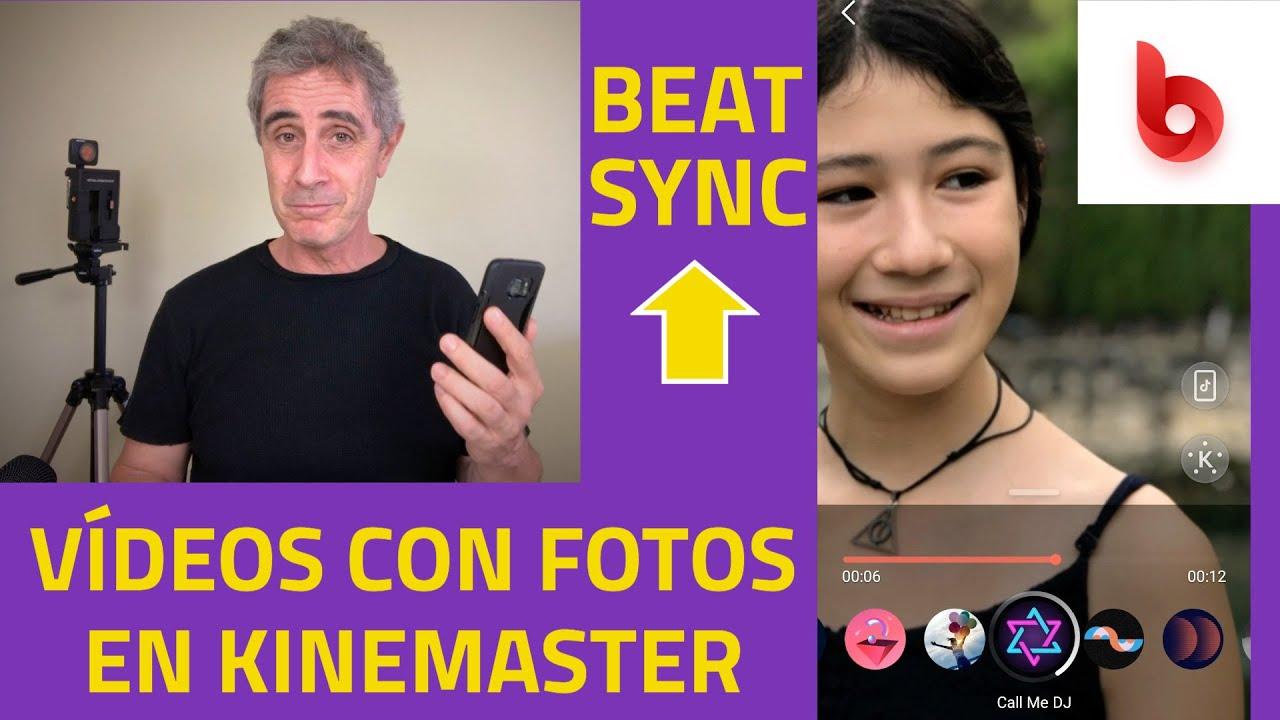 Cómo hacer videos de fotos con BeatSync de Kinemaster