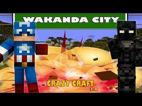 Minecraft Modpack CrazyCraft 3.0 Part 11 เมือง Wakanda แหล่งแร่ Vibranium ที่อยู่ของ Black Panther