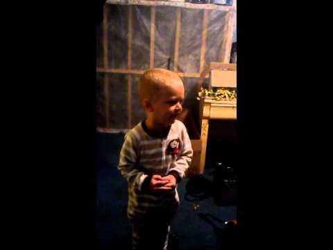 3 year old singing