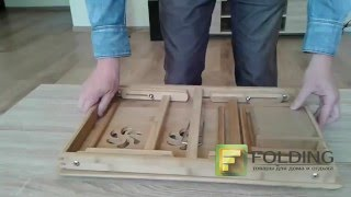 Столик для ноутбука. Обзор компьютерных столов.(Купить «Столик для ноутбука (бамбук)» можно здесь: http://folding.com.ua/product/stolik-... Столик для ноутбука бамбук – изящ..., 2016-03-01T23:42:47.000Z)