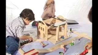Plantoys Wooden Toy Educational Toy 6218 Road&rail Play Set Railway Station