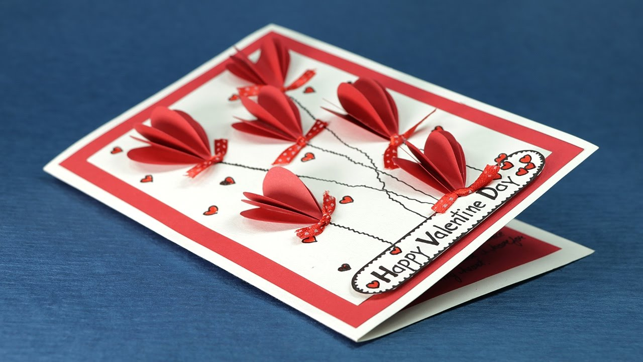 DIY Valentine Day Card Valentine Pop Up Heart Card Step By Step – Images for Valentine Day Cards