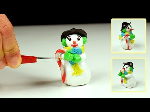 DIY Miniature Snowman   Polymer Clay & Paper Clay Tutorial