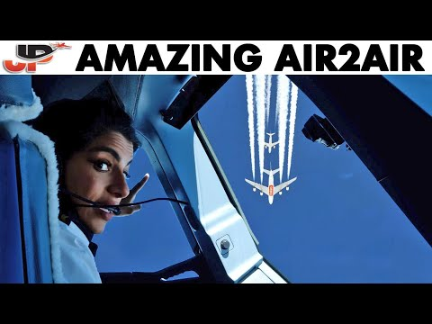 AMAZING Air To Air Encounters Filmed From Cockpit - Flightdeck