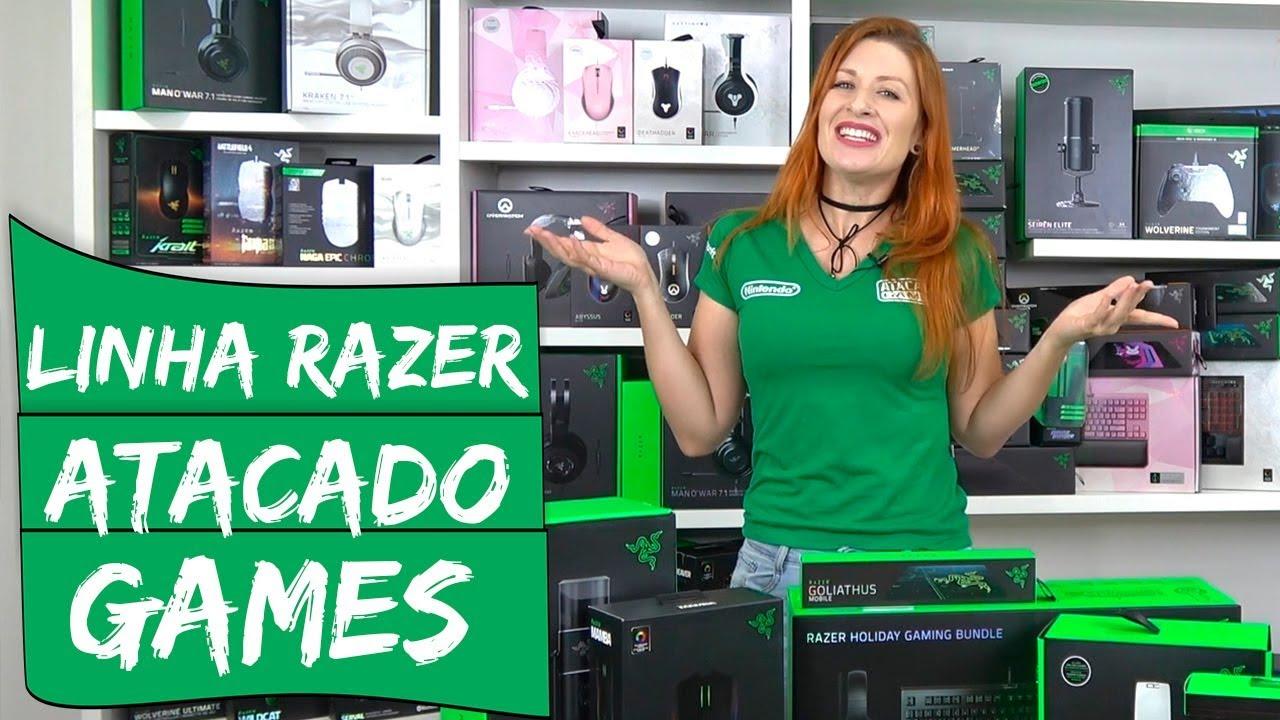 ffbd33648 Linha Razer na Atacado Games no Paraguai - YouTube