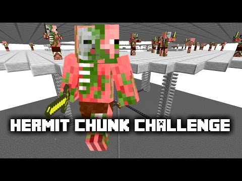 Hermit Chunk Challenge -11- Easy Survival XP Gold Farm + Super Smelter ✔