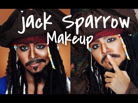 ジャック・スパロウモノマネメイク|パイレーツオブカリビアン|jack sparrow makeup tutorial | Pirates of the Caribbean
