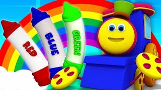 Crayons Colors Song | Bob The Train Cartoons | Preschool Learning Videos for Kids
