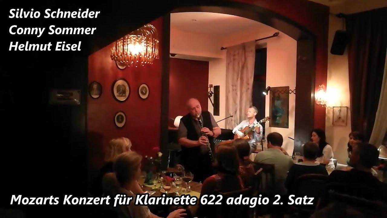 Helmut Eisel, Silvio Schneider & Conny Sommer - Mozarts Konzert für Klarinette 622 adagio 2. Satz