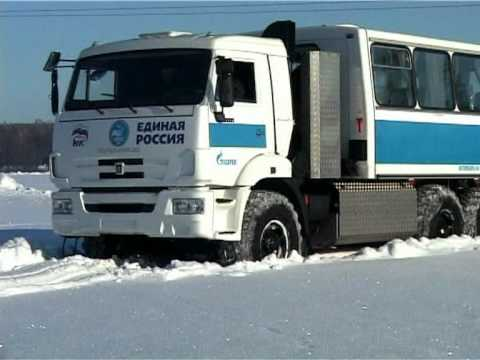 Автобус Вахта НЕФАЗ 4208 на газовом шасси КАМАЗ 43114
