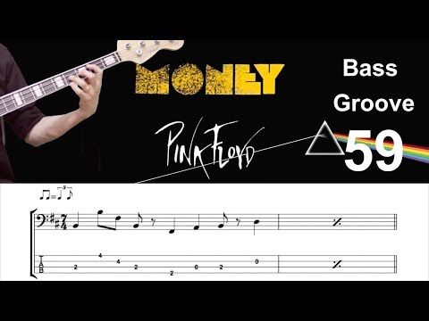 MONEY (Pink Floyd) How to Play Bass Groove Cover with Score & Tab Lesson