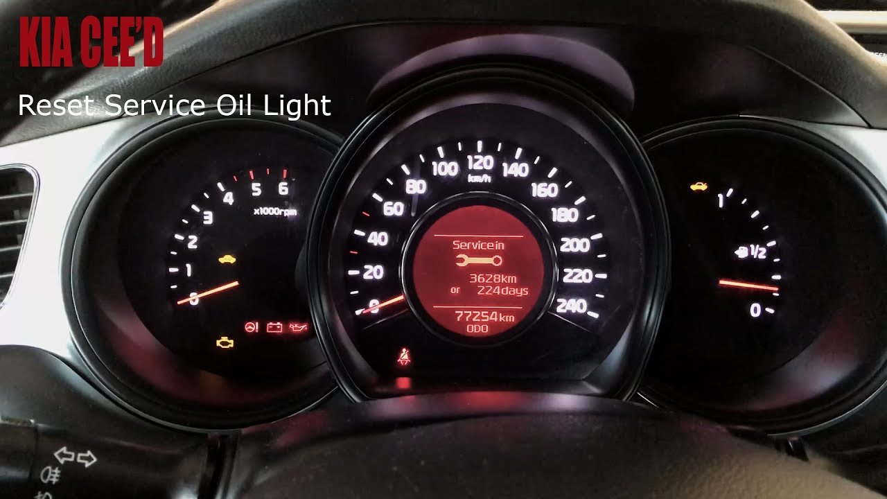Kia Ceed Reset Service Light