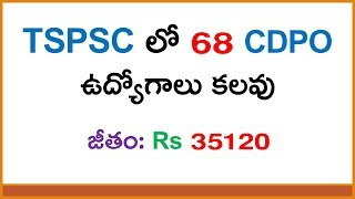 Telangana state PSC job Notification for CDPO | Latest Government Jobs in Telugu 2017
