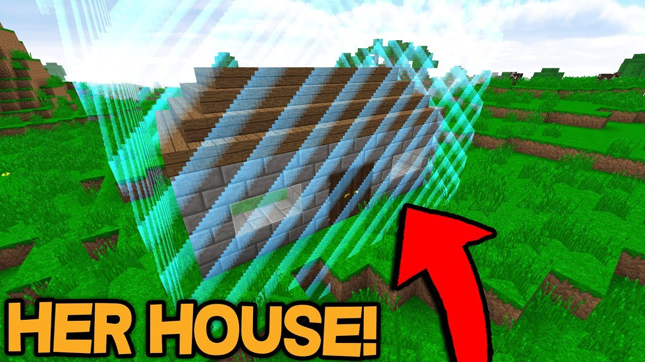Setting the WORLD BORDER around PLAYERS HOUSE! (Minecraft Trolling)