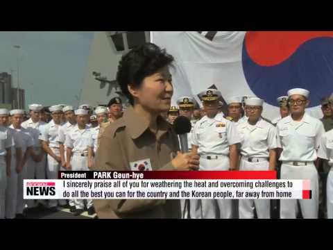 President Park meets Korean troops, medical personnel in UAE   박 대통령, UAE 마지막 날