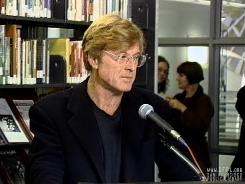 1996 Robert Redford and Annette Gellert at the San Francisco Public Library
