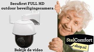 Draadloze IP-beveiligingscamera pan/tilt outdoor - Secufirst - StelComfortshop.nl