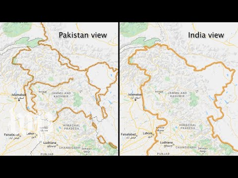 Google maps changes disputed borders based on where you're searching from