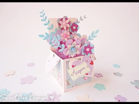 Tutorial: Pop-up card 3d flowers