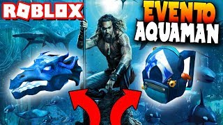 HOW TO GET THE AQUAMAN CASE AND MOCHILA! SERVER VIP - Roblox: Aquaman Event