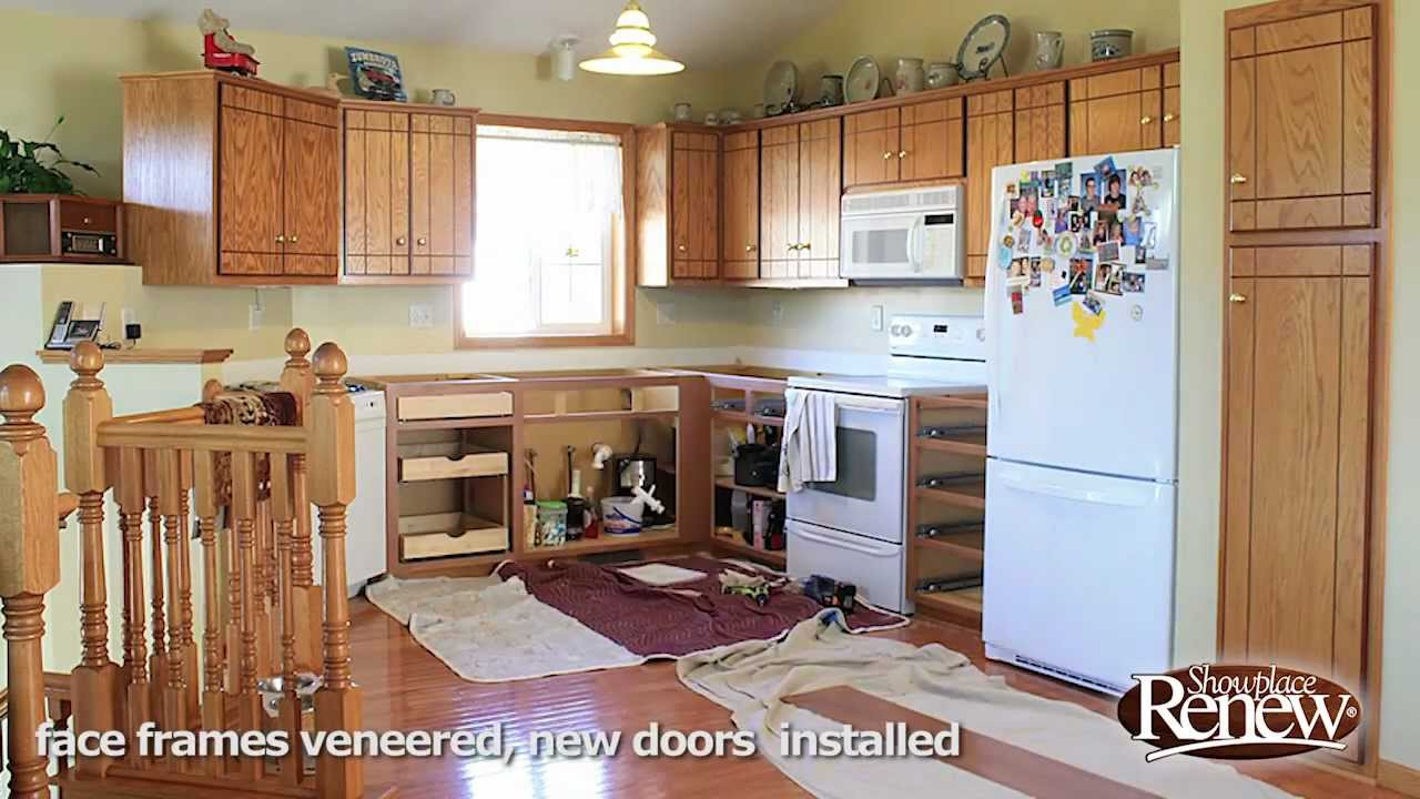 renew kitchen cabinets cabinet color a full remodel in 2 1 days refacing makes it quick and easy youtube