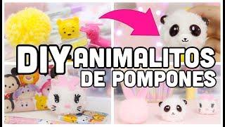 Haz un panda, gatito y conejito-regalo perfecto para mejor amiga-kit para hacer pompones