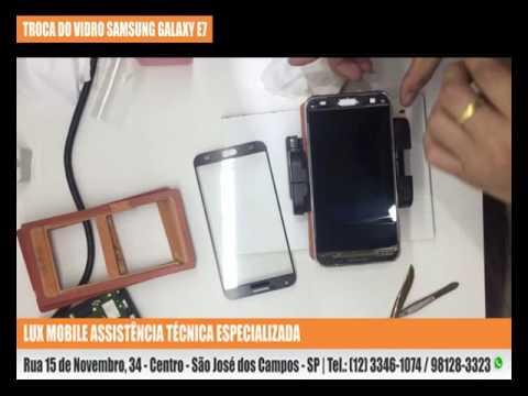 Troca do Vidro do Samsung Galaxy E7
