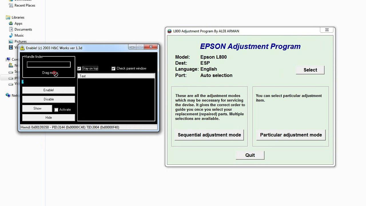 Epson All Printer Resetter or Adjustment Software