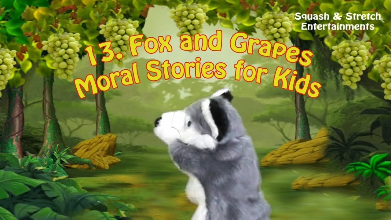 The Fox and the Grapes Short Story with Moral -