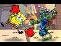 SpongeBob SquarePants vs Teenage Mutant Ninja Turtles - Funny Cartoon Movie Games New Episodes HD