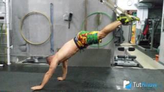 Отжимания вниз головой в петлях - техника выполнения