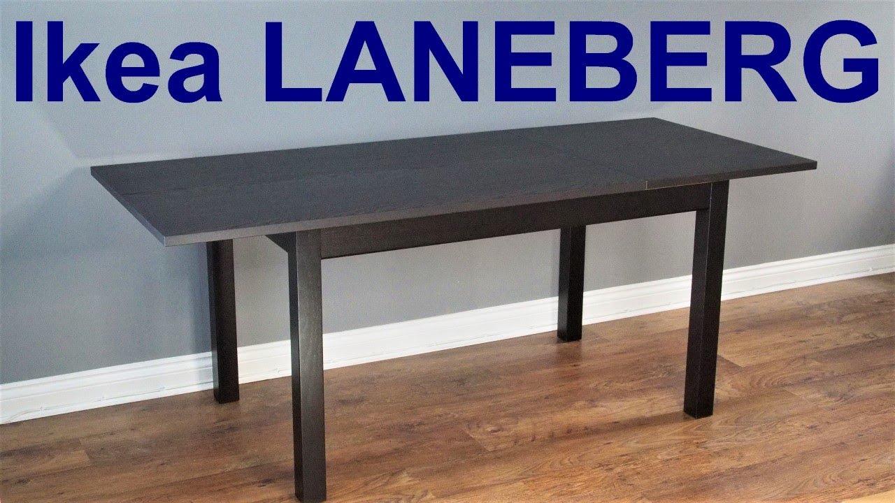 Ikea Laneberg Extendable Table Assembly Youtube