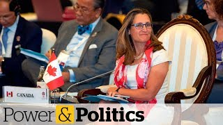 Freeland talked about detained Canadians with Chinese counterpart | Power & Politics