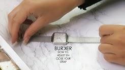 Adjust & close your BURKER watch - BURKER Uhr armband einstellen und schließen