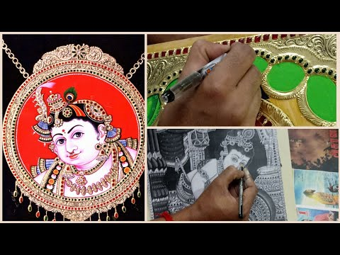 DIY | Learn How To Make Tanjore Painting Step By Step In Tamil | World Famous Tanjore Art