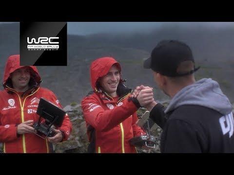 WRC 2018: Craig Breen / Scott Martin testing a DJI drone