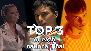 Eurovision 2021 - Top 3 of Each National Final with details (official results)