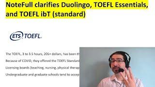 Duolingo, TOEFL Essentials, TOEFL - Which English exam should I take? - Joseph from NoteFull