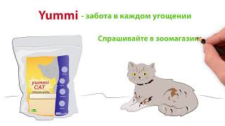 Дудлвидео для телевизионной рекламы кошачьего корма Yummi.